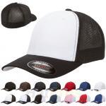 Buy cheap Spandex Cotton Mesh Trucker Hats Baseball Cap Plain Blank Curved Visor Flex Fit from wholesalers