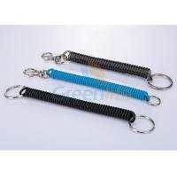 Buy cheap Polyurethane Tubing Fishing Rod Lanyard , Trigger Clip Spiral Keychain from wholesalers