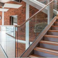 Buy cheap ht sale 2018 house hotel common rail U channel aluminum railing system deck balustrade from wholesalers