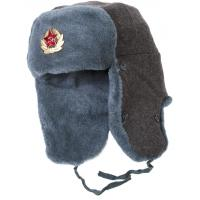 Buy cheap Soviet Army Mens Wool Winter Hats With Ear Flaps Stamp Logo Available 58-60cm from wholesalers