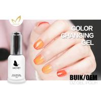 Buy cheap Flavorless 72 Colors Mood Changing Gel Nail Polish Breathable 15ml / Bottle product