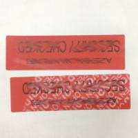 Buy cheap Anti Tamper VOID Security Labels For Recyclable Jewel / Cosmetics Packing from wholesalers