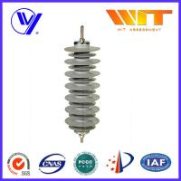 Buy cheap 36KV 10KA Polymeric Housed Metal Oxide Lightning Arrester , Thunder Zinc Oxide Surge Arrestor from wholesalers