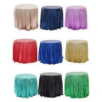 Buy cheap Customized Polyester Sequins Hotel Banquet Table Cloth from wholesalers