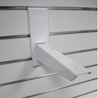 Buy cheap Smooth Storage Mdf Board / Pvc Plastic Slatwall Display Rack from wholesalers