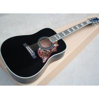 Buy cheap Wholesale custom 41 cherry red/black hummingbird acoustic guitar with rosewood fretboard,Can add fishman pickups from wholesalers