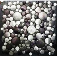 Buy cheap MA78 round colourful Brushed Aluminium Mosaic Wall or floor tile from wholesalers