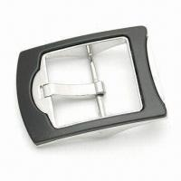 Buy cheap Nickel-plated Belt Buckle with Black and Metal Effect from wholesalers