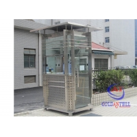 Buy cheap Stainless Steel Road Side 220volt Prefabricated Security Booth Art Style from wholesalers