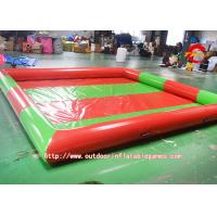Fire Retardant Red Inflatable Kids Swimming Pools Custom 4 X 4m 104656113