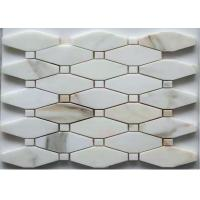 Buy cheap Hexagon / French Pattern Marble Basketweave Floor Tile Anti - Stain Mosaic Bathroom Tiles from wholesalers