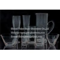 Buy cheap clear glass engraved pineapple pitcher salad bowl beer glass water glass from wholesalers