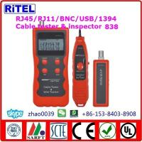 Buy cheap Lan cable tester 308-locate-cable-tester RJ11, RJ45, BNC, USB for cat3,cat5/5e,cat 6 test, max 350m length test from wholesalers