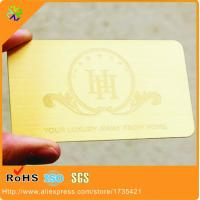 Buy cheap High Quality Gold Plated OEM Metal Business Card engraved logo and words from wholesalers