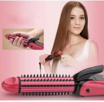 Buy cheap Four Temperature Control 3 in 1 Hair Styler Hair Curlers Hair Crimper Hair Straightener Brush from wholesalers