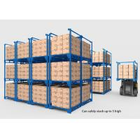 Buy cheap Collapsible Heavy Duty Industrial Shelving , Movable Metal Storage Rack from wholesalers