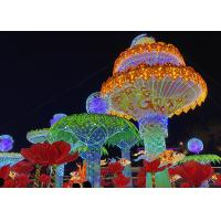 Buy cheap Entertainment Group Of Huge Fabric Chinese Lanterns Decorated For Outdoor Garden from wholesalers
