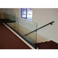Buy cheap Aluminum Base Shoe Glass Deck Handrail Design For Apartment Glass Railing System from wholesalers