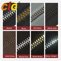 Buy cheap Smooth Sliding Metal Zipper For Garments Accessories , Polished Teeth Zipper Wholesale product