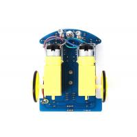China D2 - 1 Intelligent Arduino Car Robot , Yellow / Bule Arduino Robot Car Kit on sale