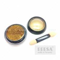 Buy cheap Nails Art Decoration Yellow Gold Mirror Chrome Nail Dipping Pigments Powder from wholesalers