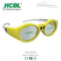 Yellow / Pink / Purple Kid 3d active shutter glasses For Xpand Cinema System