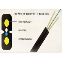 Buy cheap FTTH Flat Drop Cable Plastic FRP Strength Members / LSZH Jacket 1 Core 2 Core 4 Core from wholesalers