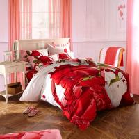 Buy cheap Classical Elegant Sateen Cotton Printed Bedding Sets , King Size Bedding Sets from wholesalers