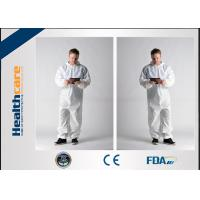 Buy cheap Waterproof Insulated Disposable Protective Coveralls , Full Body Cleaning Suit CE FDA from wholesalers