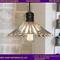 Buy cheap High Quality Modern clear glass flower shape chandelier light for home decoration from wholesalers
