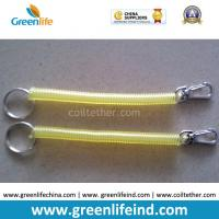 Buy cheap Transparent Yellow Spring Coil KeyRings Good Connector for Personal's Pendant from wholesalers