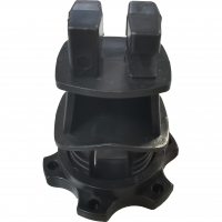 Buy cheap Black HDPE Screw Tight Round Post Insulator with UV inhibitors for Electric Fencing System from wholesalers