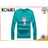 Buy cheap Elegant  Round Neck Custom T Shirt Long Sleeve Tees For Men 180g from wholesalers