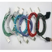 Buy cheap braided rope mobile phone usb data cable , mobile phone data line product