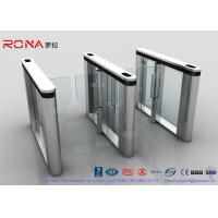 Buy cheap Automated Pedestrian Barrier Gate , Turnstile Security Systems 304 Stainless Steel product