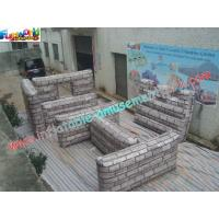 Buy cheap Durable Outdoor Colorful Inflatable Paintball Bunkers , Inflatable Paintball Wall from wholesalers