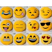 Buy cheap Yellow Emoji Emoticon Round Stuffed Baby Sleeping Pillow For Home Use from wholesalers