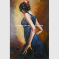 Buy cheap Hand Painted Spanish Oil Painting / Female Painting Flamenco Dancer Canvas Art from wholesalers