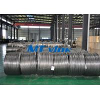Buy cheap TP304L / 1.4306 Small Diameter Stainless Steel Coiled Tubing For Cable Industry from wholesalers