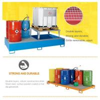 Buy cheap Industrial Steel Spill Pallet With Zinc Plated Support Grating For IBC Tank product