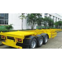 Buy cheap Skeleton Container Flatbed Semi Trailer With 40 Ft Container 3mm Diamond Plate from wholesalers