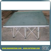 Buy cheap Glass surface portable event stage with risers base kits hot sale for indoor or outdoor from wholesalers