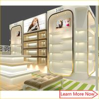 Buy cheap Modern high end fashion shoe store display case/shoe wall display from wholesalers