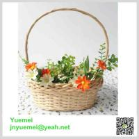 Buy cheap Wicker flower basket handle willow manufacturer customised size factory exporter from wholesalers