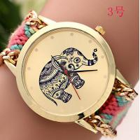 Buy cheap PU Leather + Glass Women / Lady Geneva Flower Watch with Logo Printing Hand Made from wholesalers