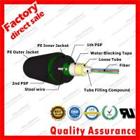 Buy cheap gyxtw53 Center Bundle heavy Armored Fiber Optic Cable for Outdoor Double Armored And Double Sheathed PSP sheath CPR from wholesalers
