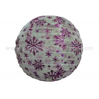 Buy cheap Snowflake Printing Round Nylon Hanging Lantern for Party , Home Decoration Colorful from wholesalers