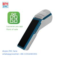 Buy cheap Android 6.0 point of sale pos device with 3g wifi bluetooth built in printer and loyverse pos software from wholesalers