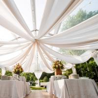 Buy cheap VL001 New Product Linen Sheer Fabric Wedding Decoration Tent from wholesalers