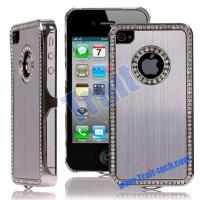 Buy cheap Brushed Aluminium Metal Skin Diamond Edge Silver Electroplating Case Cover for iPhone 4 / iPhone 4S from wholesalers